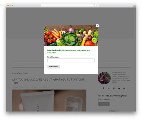 WP template Foodie Pro Theme - rebekahleanutrition.com