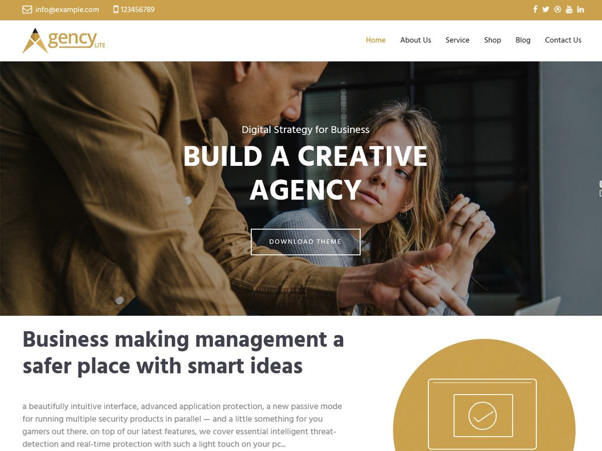 Agency Lite personal blog WordPress theme