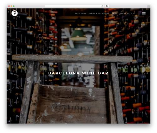 Barcelona WordPress website template - barcelonawinebar.com