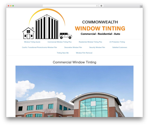 Beaver Builder Theme WordPress ecommerce theme - commonwealthwindowtinting.com
