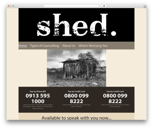 Chester WordPress theme - shedcounselling.com