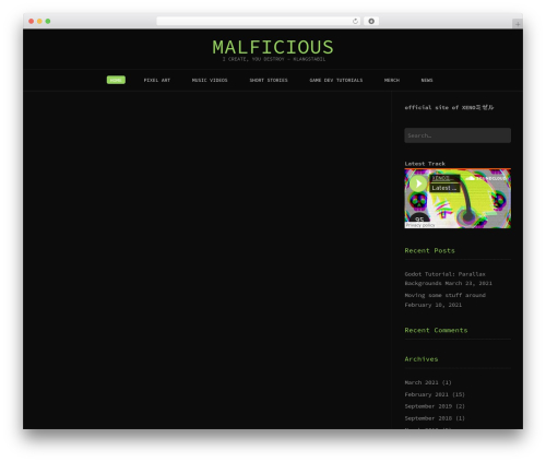 Conica WordPress template free download - malficious.com