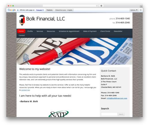 Customized WordPress theme - bolkfinancial.com
