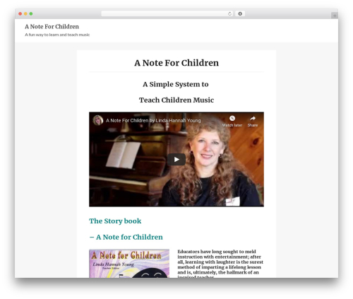 e-Shopper WordPress template free - anoteforchildren.com