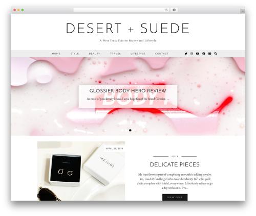 Equinox (pipdig) WordPress blog theme - desertandsuede.com