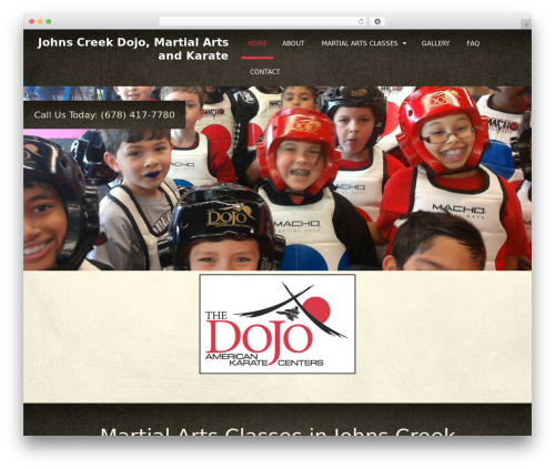 Martial Arts V8 WordPress theme - abbottsbridgedojo.com