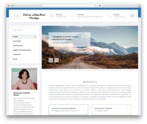 MentalPress WP Theme WordPress page template - letiziarossi.com