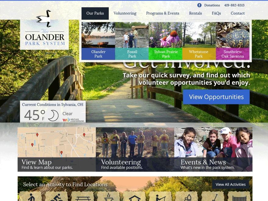 Olander Park System template WordPress