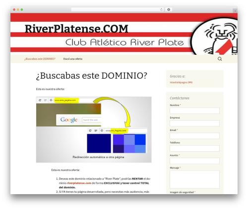 Twenty Thirteen WordPress template free - riverplatense.com