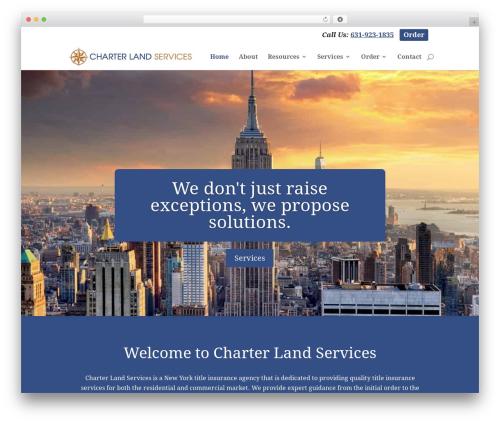 WP theme Charter Land Services - charterlandservices.com
