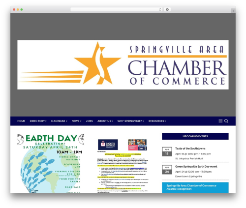 Cream Blog WordPress blog template - springvillechamber.com