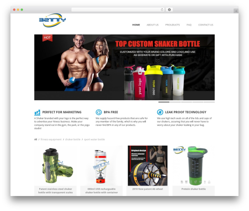 Goodspace Child fitness WordPress theme - proteinshakerbottle.com