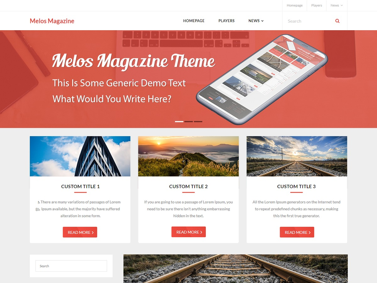 Melos Magazine company WordPress theme