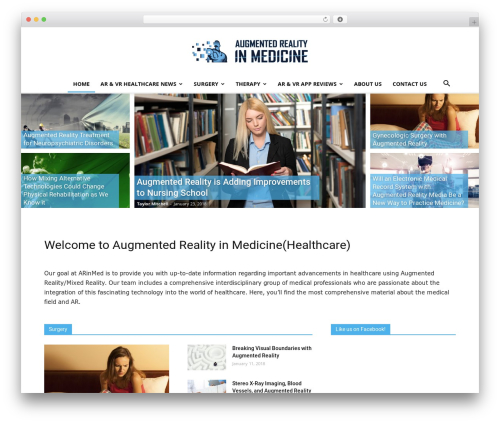 Newspaper WordPress news template - arinmed.com