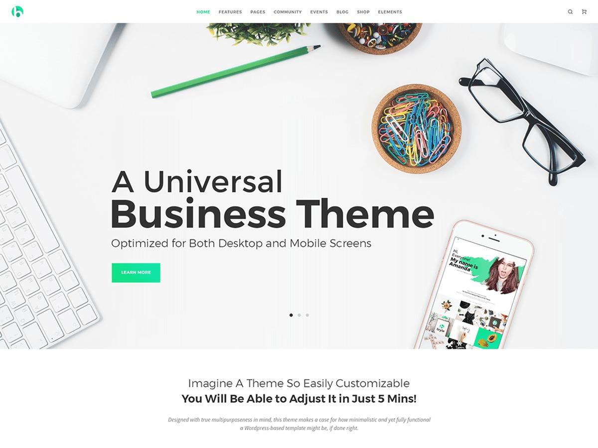 WordPress theme Bryte