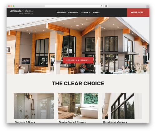 Best WordPress template Divi - dahlglass.com