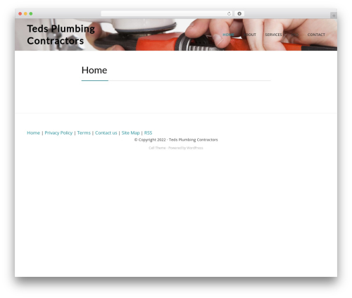 Cell best free WordPress theme - tedsplumbingcontractors.com