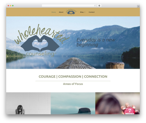 Divi template WordPress - wholehearted-counseling.com