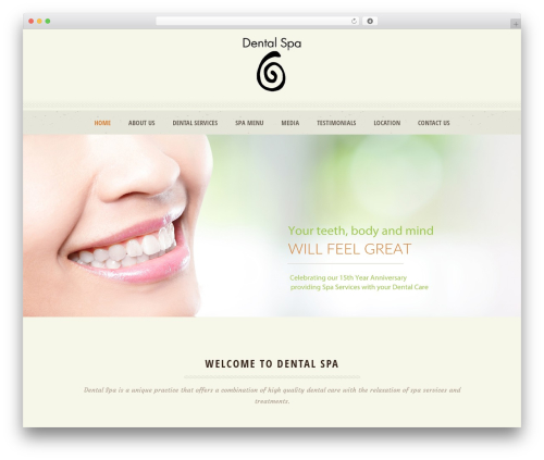 Dream Spa best WordPress theme - dentalspaca.com
