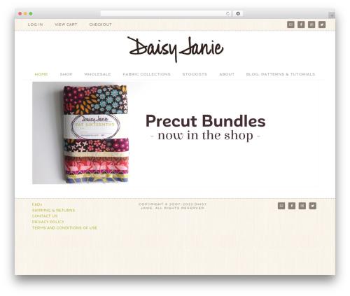 Flourish Theme WordPress website template - daisyjanie.com