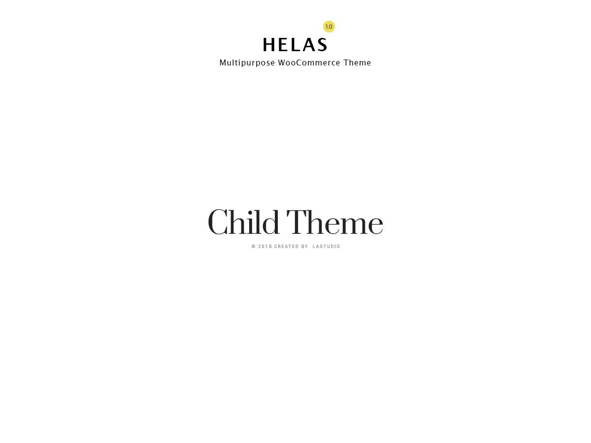 Helas Child WordPress store theme