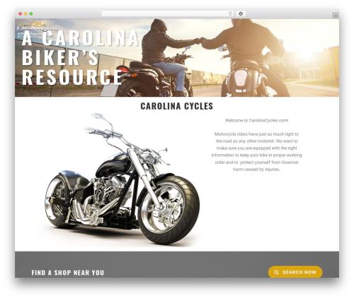 MotoBlog WordPress page template - carolinacycles.com