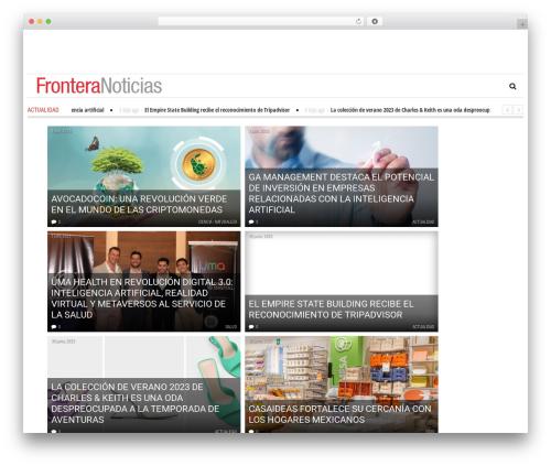 Newspeak top WordPress theme - fronteranoticias.com