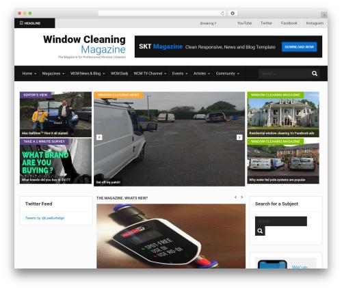SKT Magazine Pro WordPress news theme - windowcleaningmagazine.com