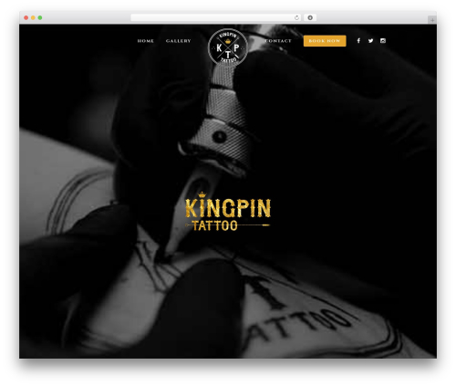 Template WordPress TattoPro - kingpin-tattoo.com