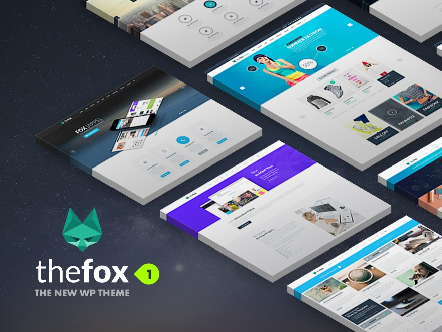 TheFox (shared on wplocker.com) WordPress template for business