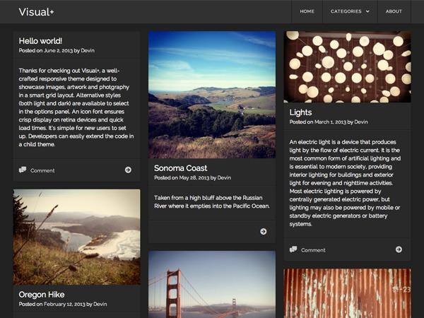 Visual WordPress photo theme