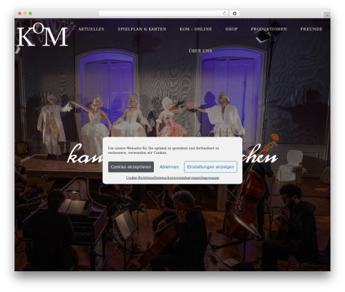 WordPress theme FWRD Child - Ultimate Creative WP Theme - kammeroper-muenchen.com