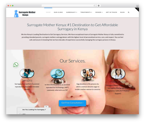 X template WordPress - surrogatemotherkenya.com