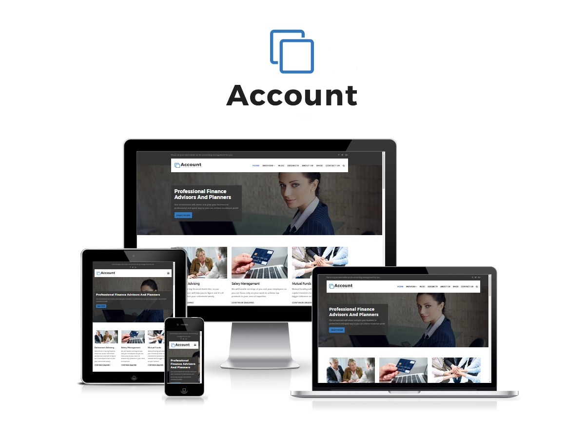 Account WordPress template for business