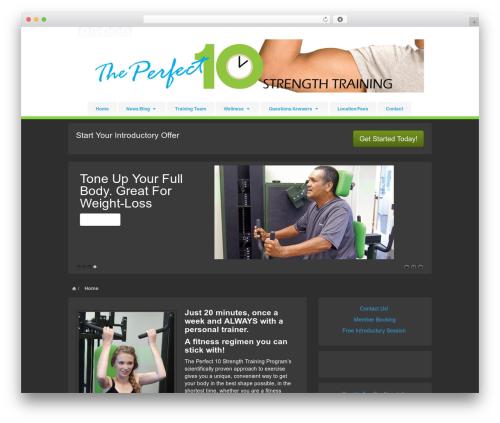 Barely Corporate WordPress theme - theperfect10strengthtraining.com