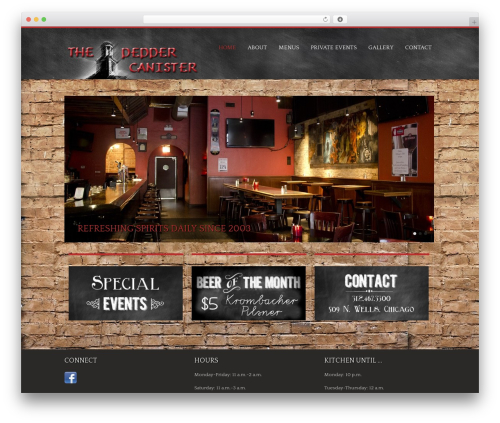 BBQ WordPress website template - thepeppercanister.com