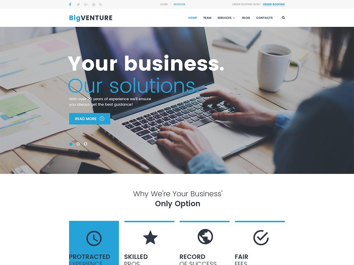 BigVenture company WordPress theme