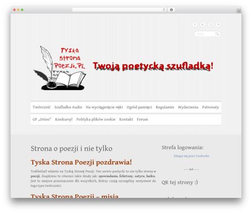 Clean Retina WordPress template free - tyskastronapoezji.pl