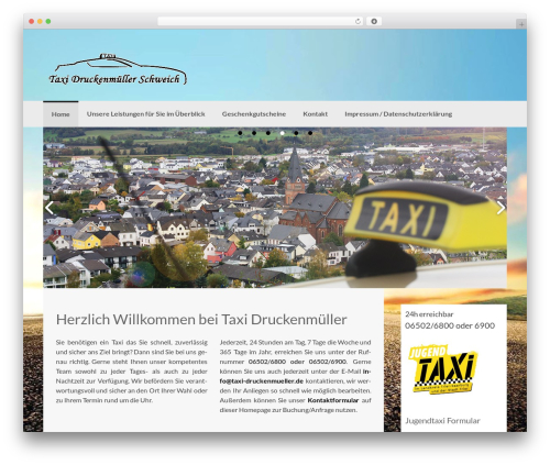 Coller free WordPress theme - taxi-druckenmueller.de