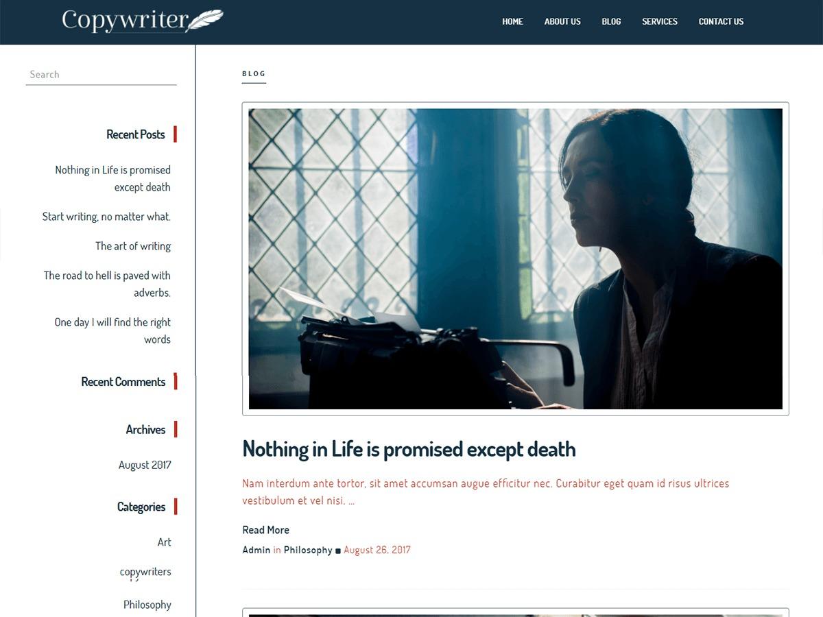 Copywriter newspaper WordPress theme