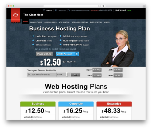Easy Flow WordPress theme - theclearhost.com