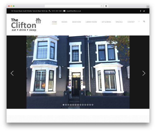 Hotel Master best WordPress template - theclifton.co.uk