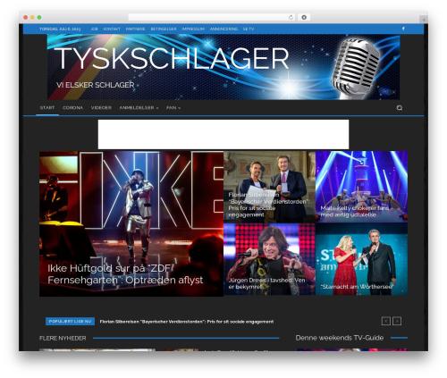 Newspaper newspaper WordPress theme - tyskschlager.dk