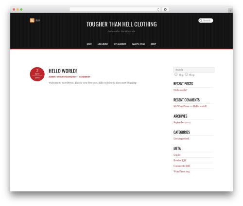Pinshop WordPress store theme - tougherthanhell.net