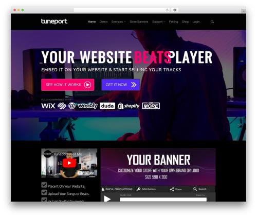 Salient WordPress theme - tuneport.com