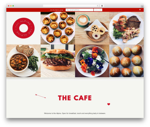 Semplice WordPress page template - thealpinecafe.com