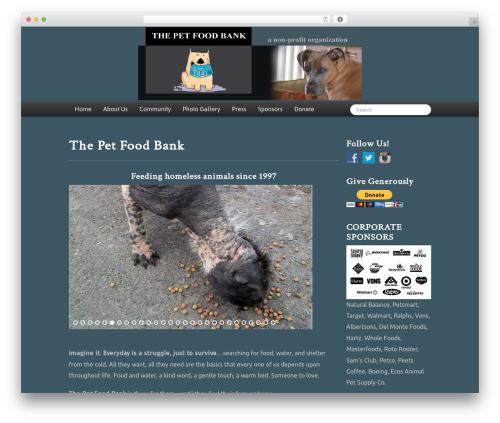 Skematik food WordPress theme - thepetfoodbank.com