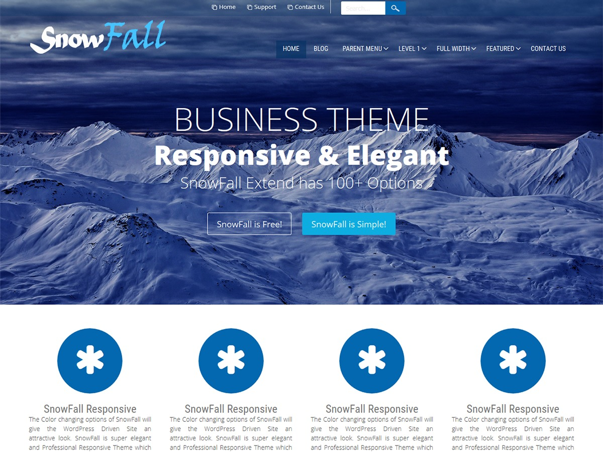 SnowFall WordPress theme free download