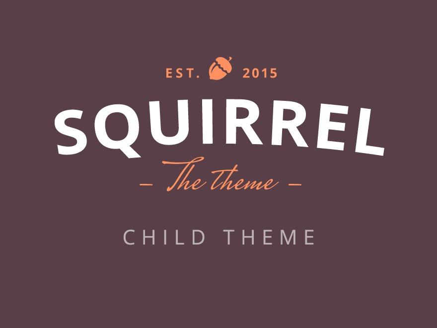 Squirrel Child theme WordPress