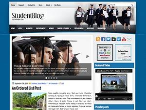 StudentBlog WordPress blog theme
